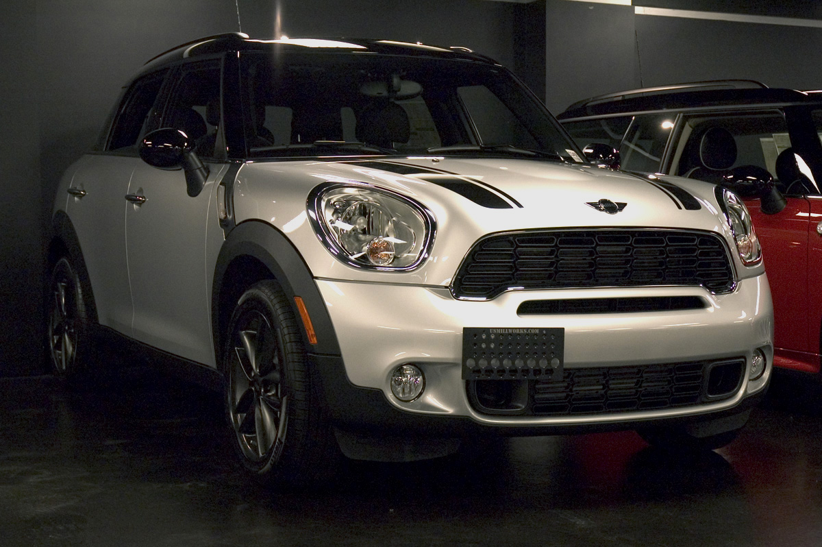 Countryman. 2012 MINI Cooper S Countryman. License Plate Fasteners & US Mill Works - MINI Front License Plate Brackets